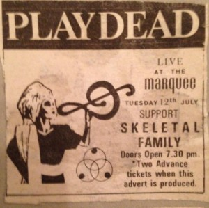 London Marquee Advert 1983
