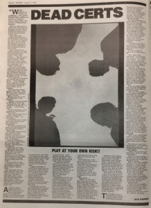 Sounds August 1984