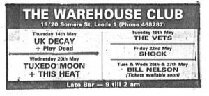 Leeds Warehouse 1981
